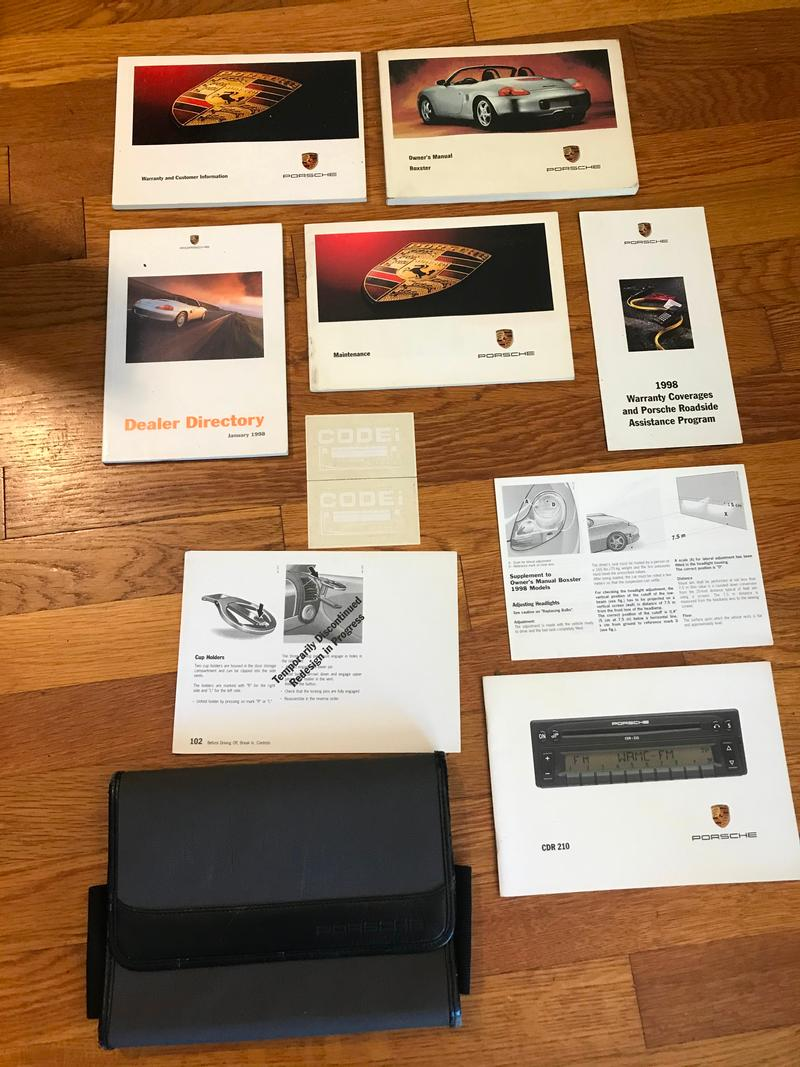 Porsche Club of America - The Mart - 1998 Boxster Owners Manual set 986